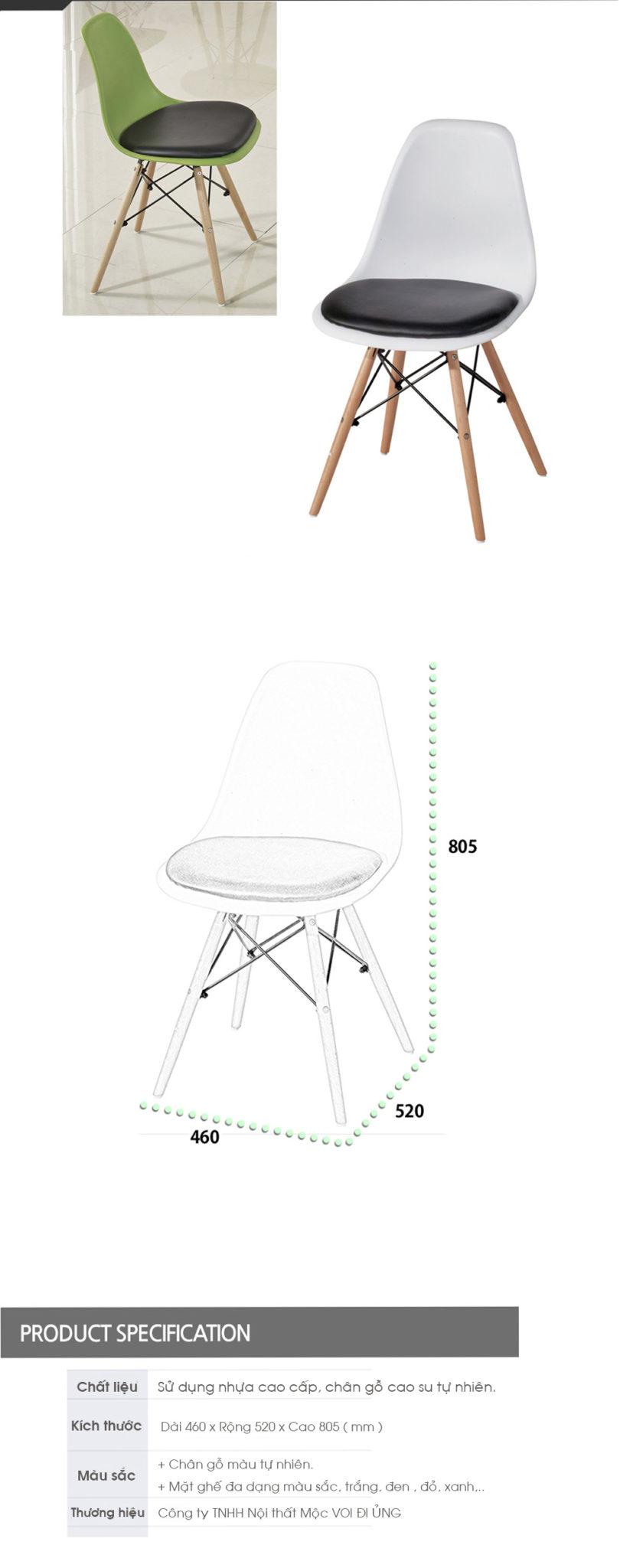 Ghế nhựa cao cấp đẹp thiết kế đơn giản nhưng vẫn giữ được phong thaasi nhất định.