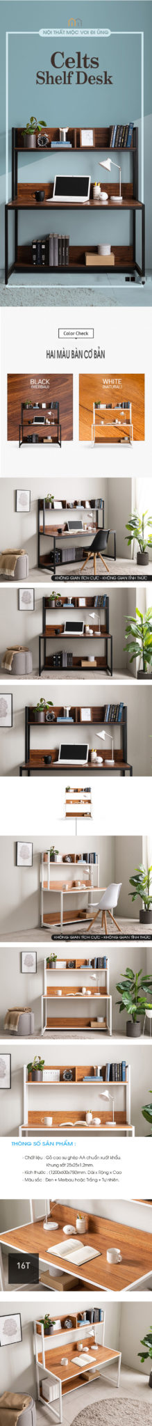 Bàn làm việc liền kệ, nội thất không thể thiếu ở văn phòng.