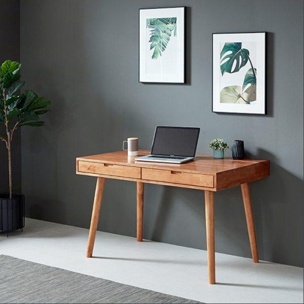 bàn làm việc gỗ.