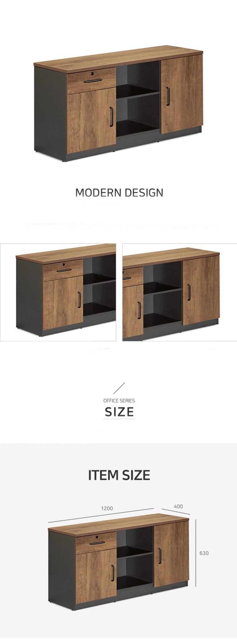 Tủ phân ngăn rõ ràng, có cánh tủ cất giữ tài liệu lâu dài.