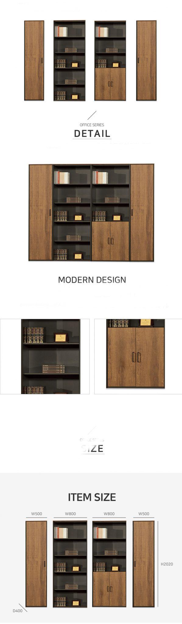 Tủ thiết kế đẹp. bắt mắt, có tủ khóa cất giữ tài liệu quan trọng.