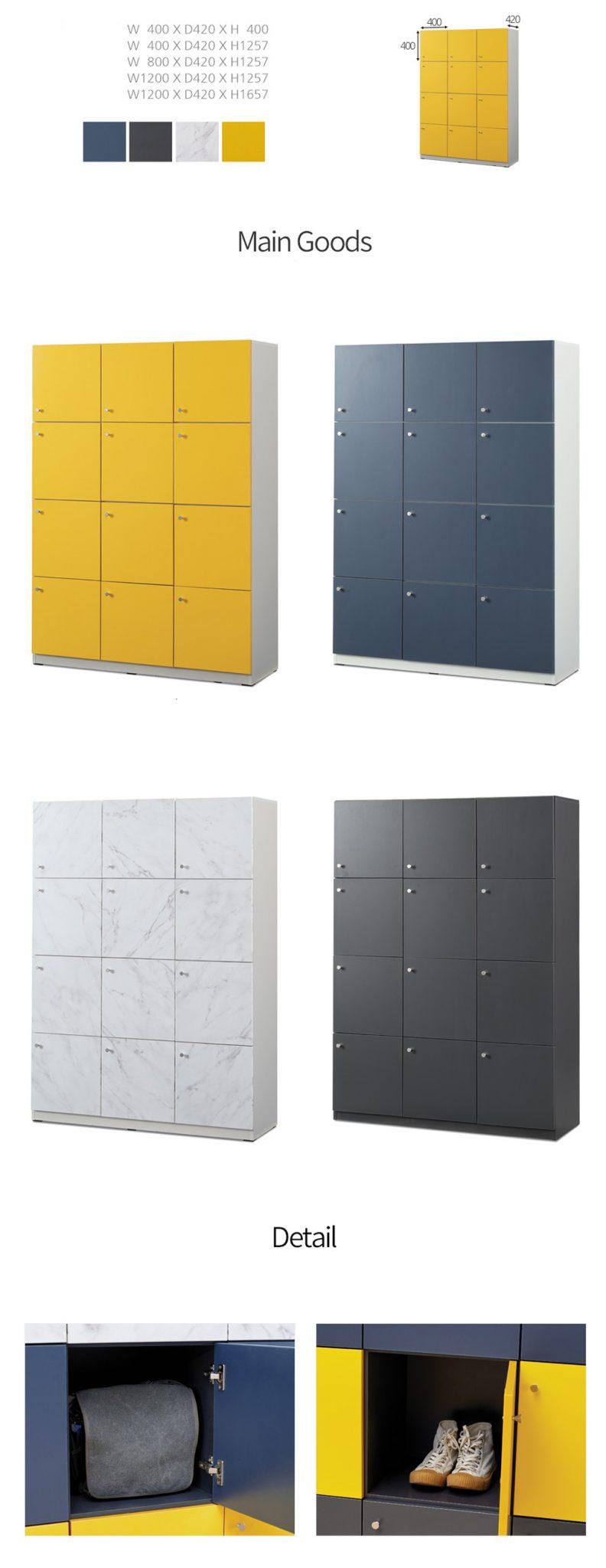 Tủ đa dạng màu sắc, thiết kế ngăn tủ phù hợp với tủ nhất, thường được sắp xếp theo 3 6 9 ngăn liên kết với nhau.