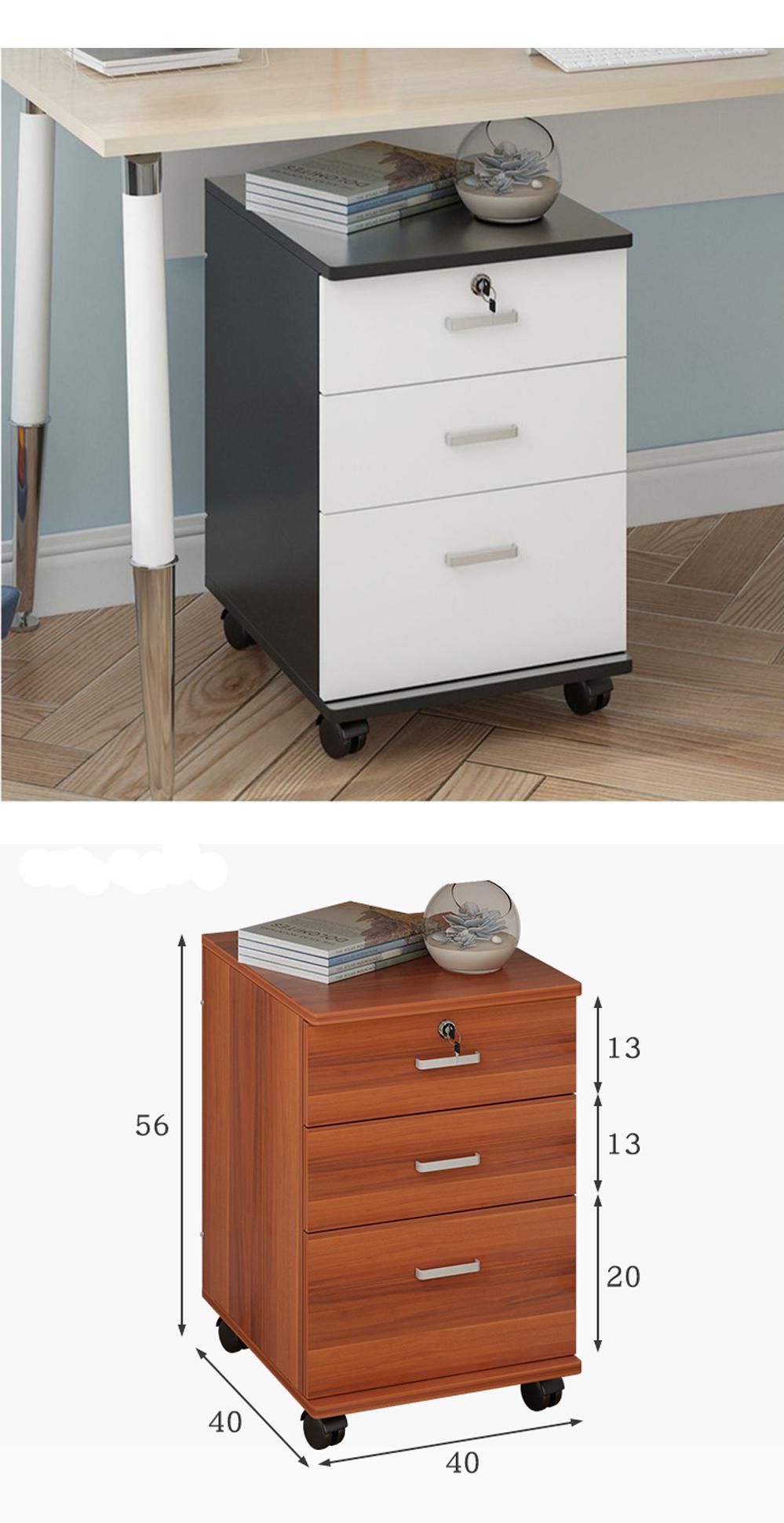 Tủ linh động có bánh lăn có thể di chuyển qua lại, vệ sinh dễ dàng.