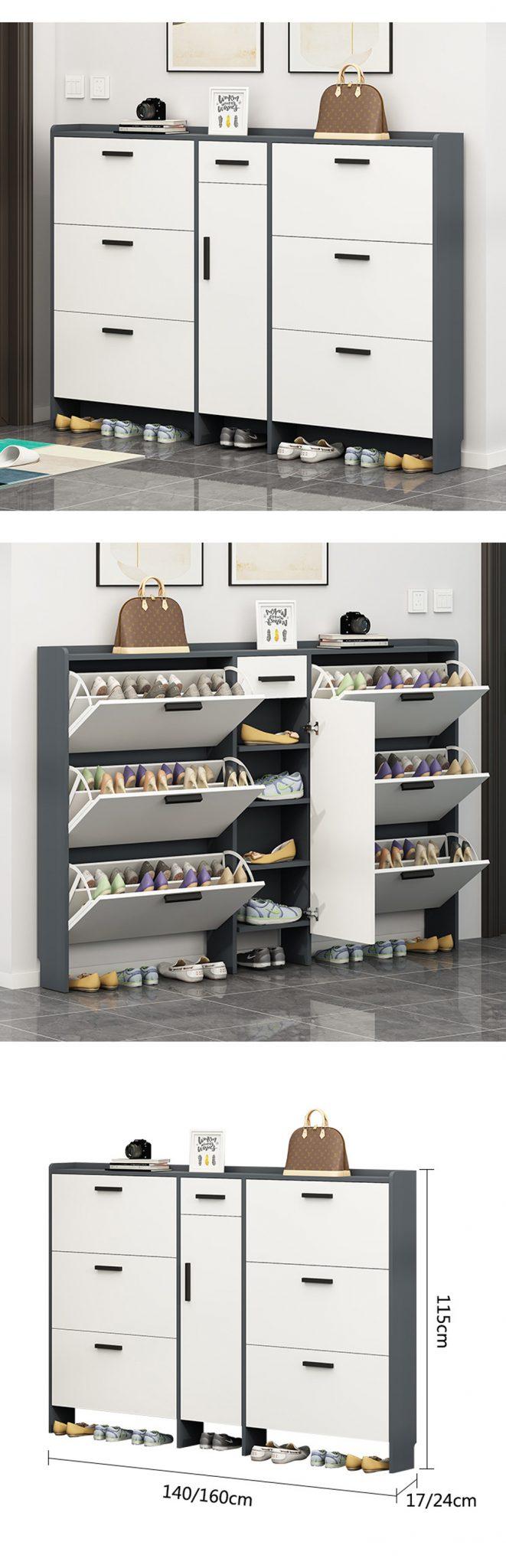 Thiết kế gọn gàng không rờm rà cho việc bảo vệ giày dép và còn trang trí cho nhà thêm xinh.